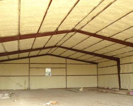 Утепленный напыляемым ППУ изнутри гараж