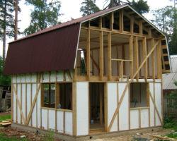 Утепление каркаса деревянного дома пенопластом