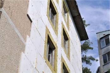Утепление фасада многоэтажного дома пенопластом