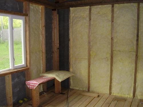 Теплоизоляция стен дома минватой