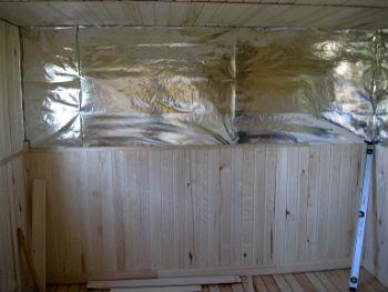 Использование фольги для теплоизоляции стен