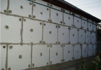 Теплоизоляция наружных стен с помощью пенопласта