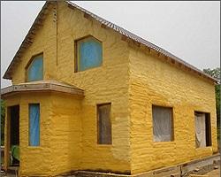 Утепление фасада ППУ напылением