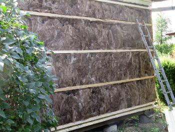 Утепление стены по каркасной технологии минватой Кнауф