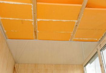 Утепление пеноплексом М35 потолка на балконе