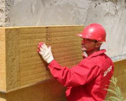 Утепление стен снаружи дома с помощью Роквул Фасад Баттс
