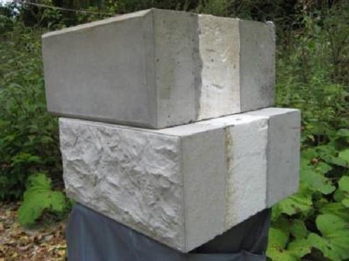 Утепленный пенопластом стеновой блок