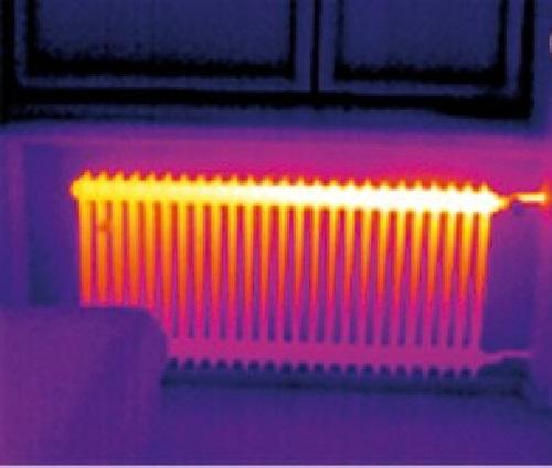 Тепловое излучение системы отопления дома