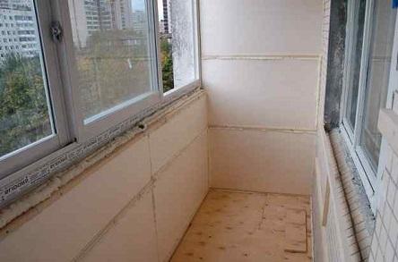 Утепление стен балкона изнутри пенополистиролом