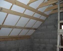 Утепление крыши дома пенопластом