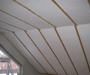 Утепление скатной крыши Пенопластом