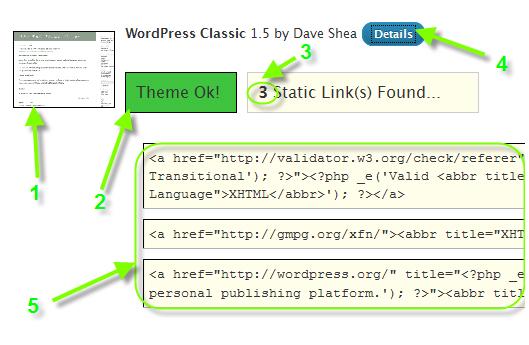 Как удалить ссылки из шаблона WordPress
