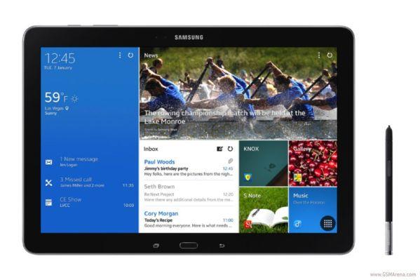 Представлен планшет Samsung Galaxy Note Pro