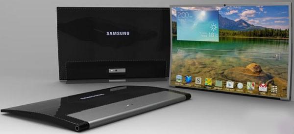 Концепт вогнутого планшетного компьютера Samsung Tab Round