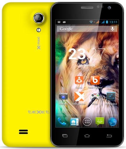 Анонсирован большой и стильный смартфон teXet X-maxi