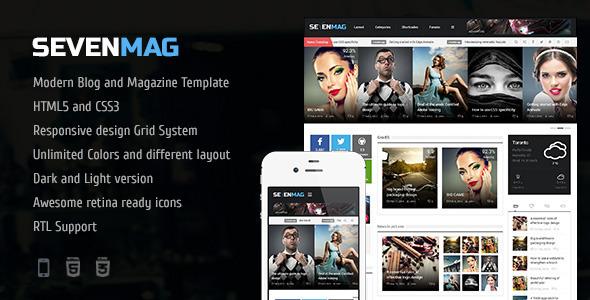 SevenMag 2.1 - тема для WordPress